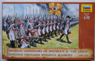 Zvezda 1/72 Z8071 Prussian Grenadiers of Frederick the Great (18th Century)
